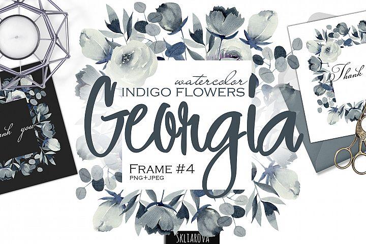 Georgia. Indigo frame #4.