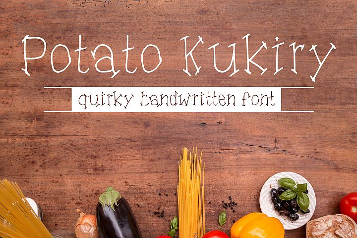 Potato Kukiry - Handwritten Quirky Fun Serif Font
