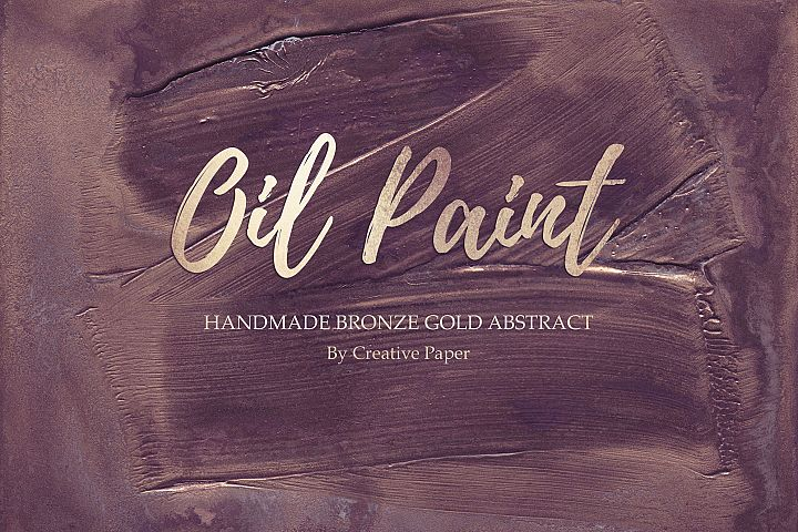 Oil Paint - Handmade Rose Bronze Gold Abstract Backgrounds