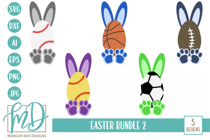 Easter SVG Bundle 2 - Easter SVG, DXF, AI, EPS, PNG, JPEG