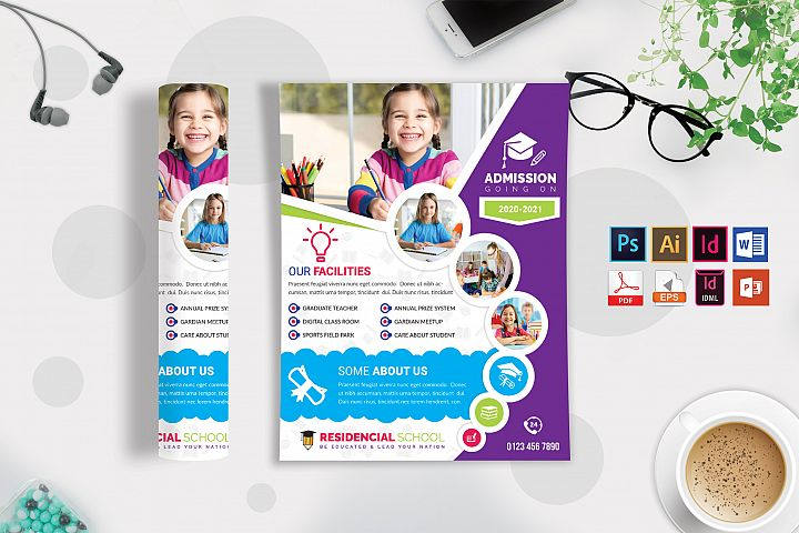 School Flyer Template Vol-07