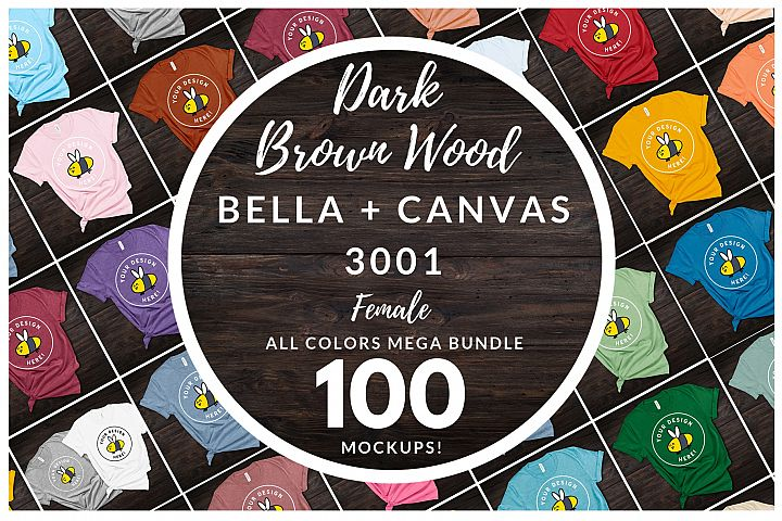 Womens Bella Canvas 3001 Mega Bundle All Colors Dark Brown
