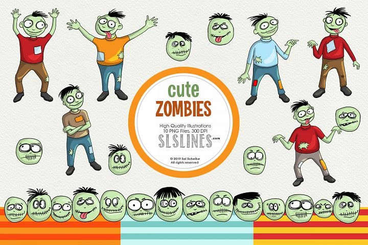 Cute & Whimsical Zombie Illustrations
