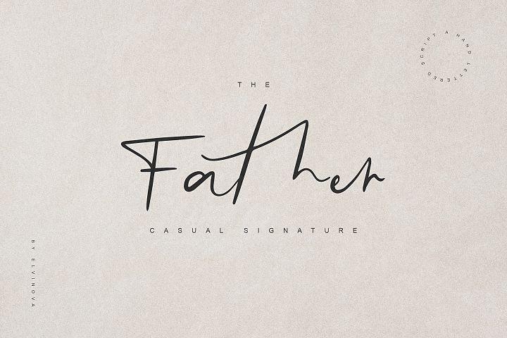 Father Casual Script Font