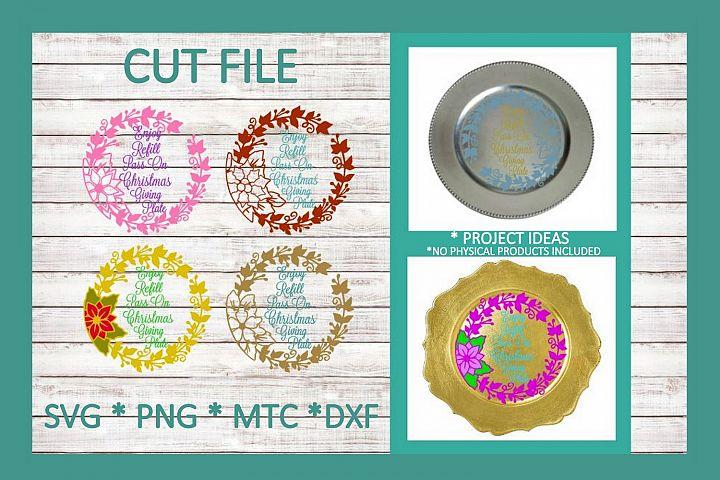 SVG Cut File Christmas Giving Plate BUNDLE Set 02