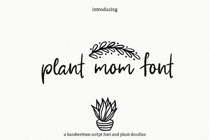 Plant Mom Font & Doodles