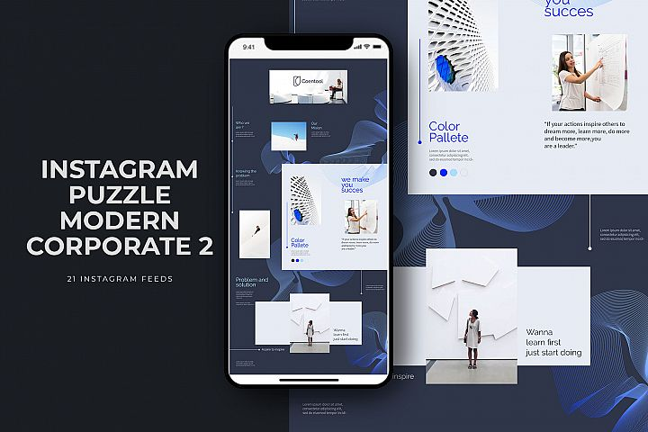 Instagram Puzzle Modern Corporate