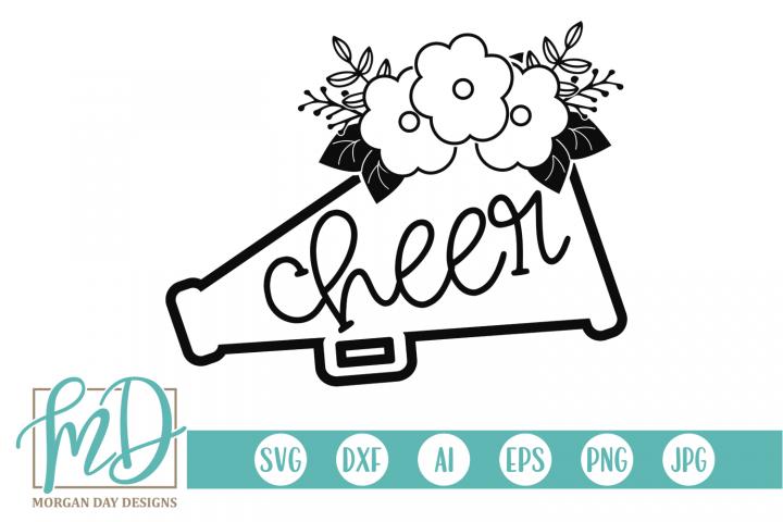 Cheer - Cheerleader SVG, DXF, AI, EPS, PNG, JPEG