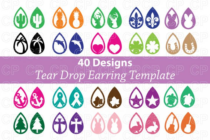 Tear Drop Earrings SVG, Earring Bundle SVG, DXF,PNG,JPG