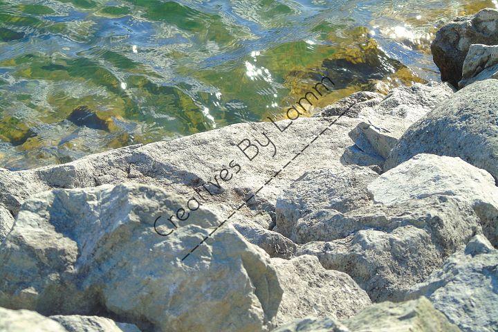 Rocks and Lake Photograph
