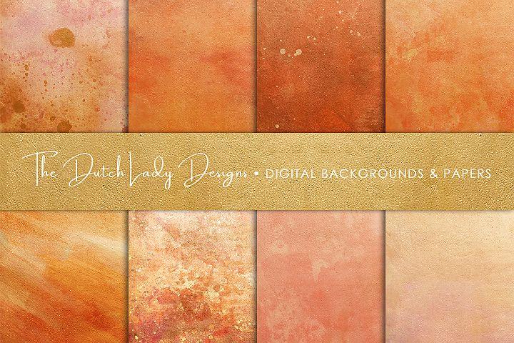 Copper & Rose Gold Textures Scrapbook Paper