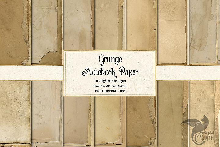 Grunge Notebook Paper