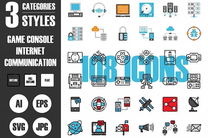 108 Pixel Perfect Icons Set Vol.1