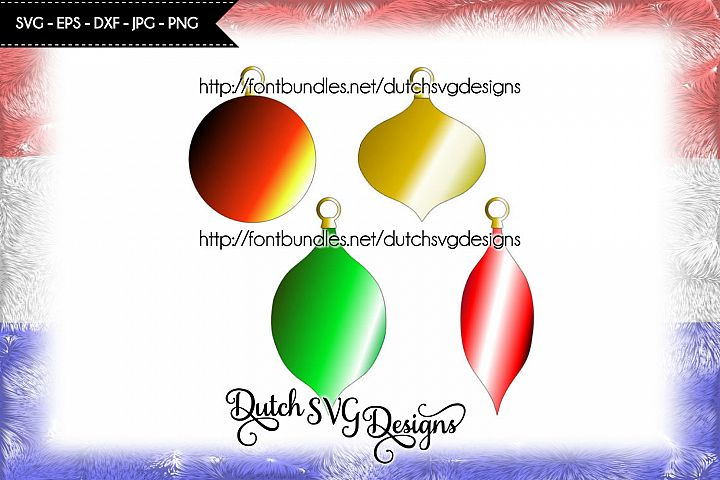 Christmas ornaments cutting files, in Jpg Png SVG EPS DXF, for Cricut & Silhouette, christmas svg, bulbs svg, christmas ornaments svg, diy