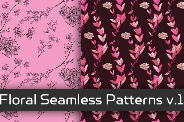 Floral Seamless Patterns v.1