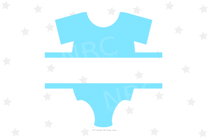 Baby Clothes Frame SVG File