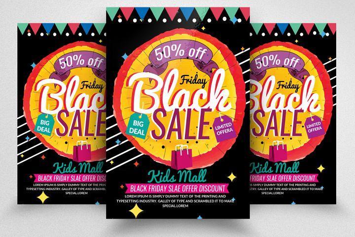 Black Friday Sale Offer Flyer Template