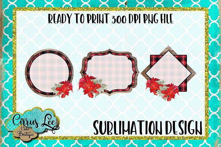 Christmas Frame Set Sublimation Design