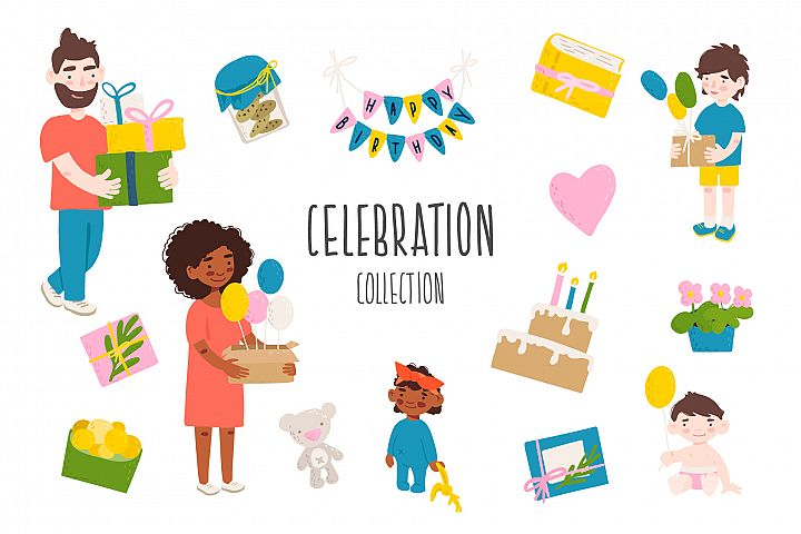 Celebration vector collection