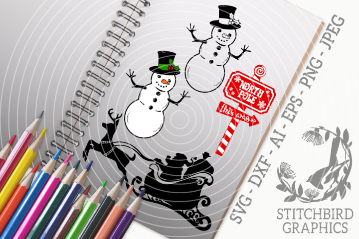 Traditional Christmas Bundle SVG, Silhouette Studio, Cricut