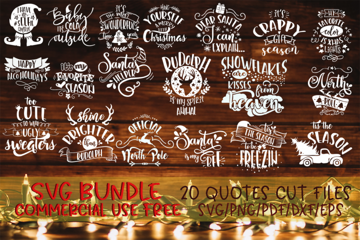 Christmas bundle svg Merry Christmas Winter svg vol 2