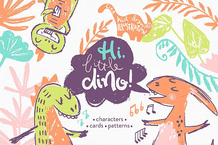 Hi, little DINO! Graphic kit
