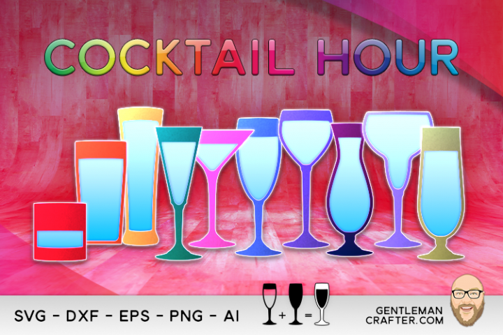 Cocktail Hour Cutting File Collection