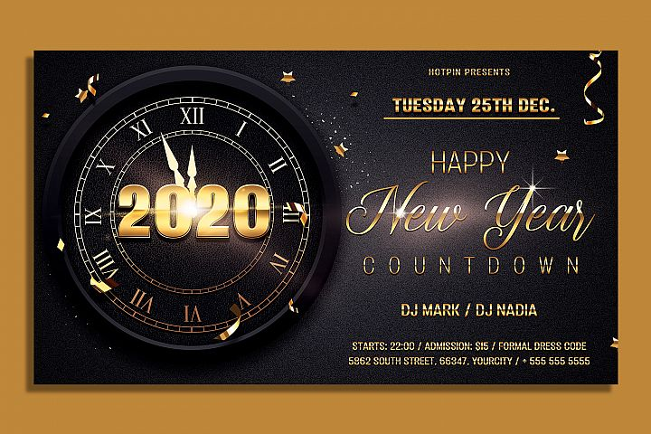 New Year Countdown Flyer Template