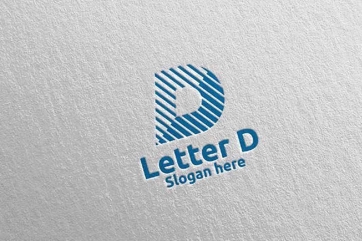 Digital Letter D Logo Design 15