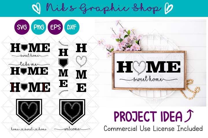 Baseball Svg, Home Sign Svg, Home Svg, Baseball Home Svg