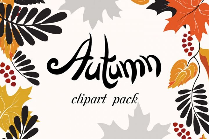 Autumn Clip Art Pack, Fall Vector Frames and Borders