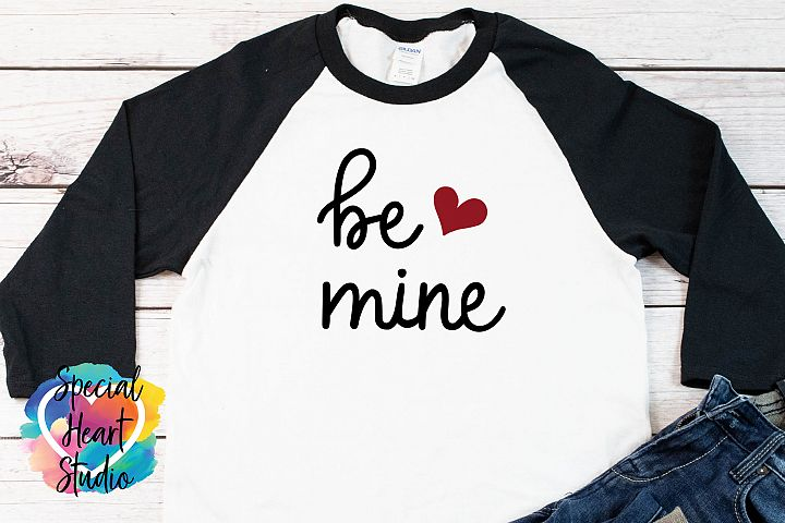 Be Mine - Hand lettered Valentine SVG