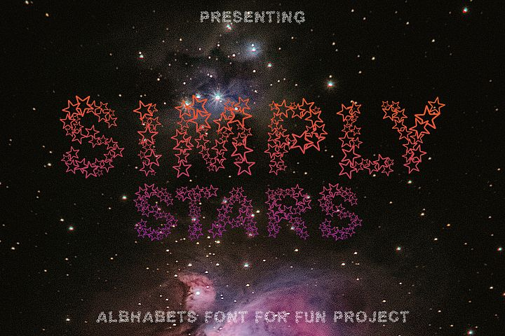 Simply Stars - Alphabets Star Font For Crafters