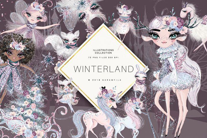 Winter Fairies Clipart