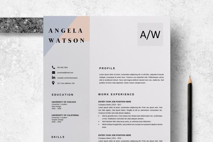 Resume Template | CV Cover Letter - Angela Watson