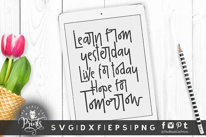 Learn from yesterday SVG DXF EPS PNG