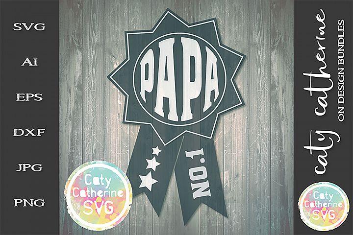 Papa Fathers Day Award SVG Cut File