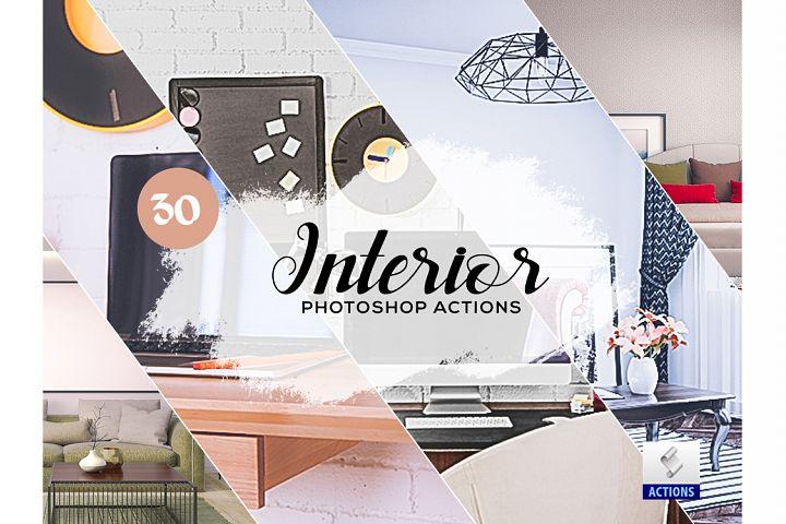30 Interior Photoshop Actions