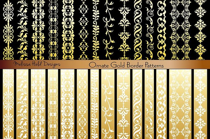 Ornate Gold Border Patterns
