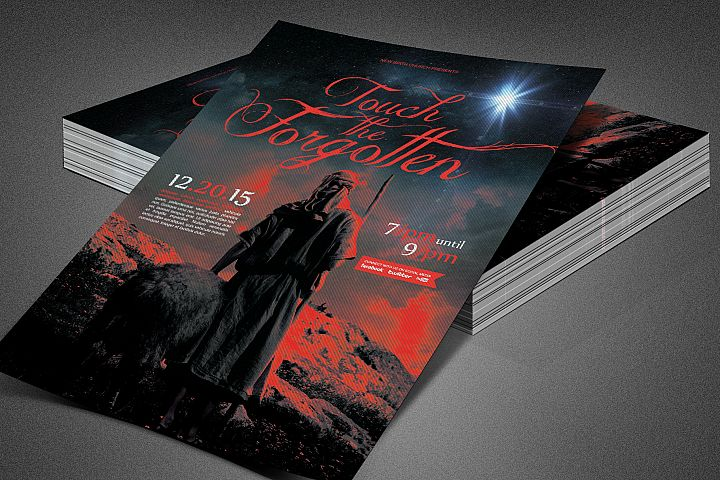 The Forgotten Church Flyer Template