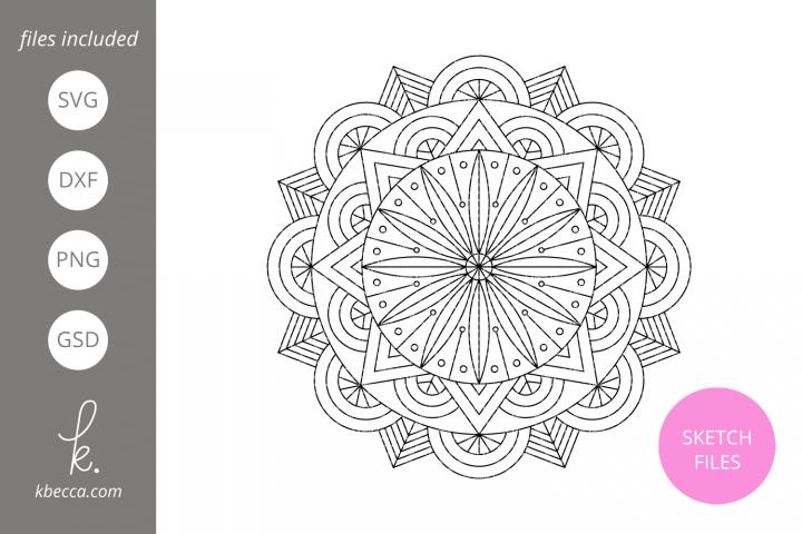 Foil Quill Sketch Mandala #1 SVG File