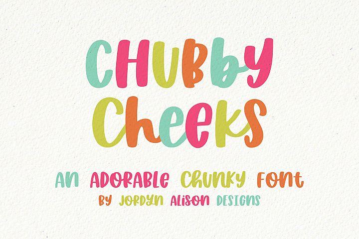 Chubby Cheeks, Thick Handwritten Sans Serif Font