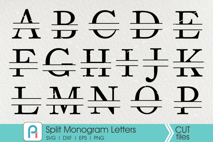 Split Letter Monogram Svg, Aplhabet Monogram Svg, Letter Svg