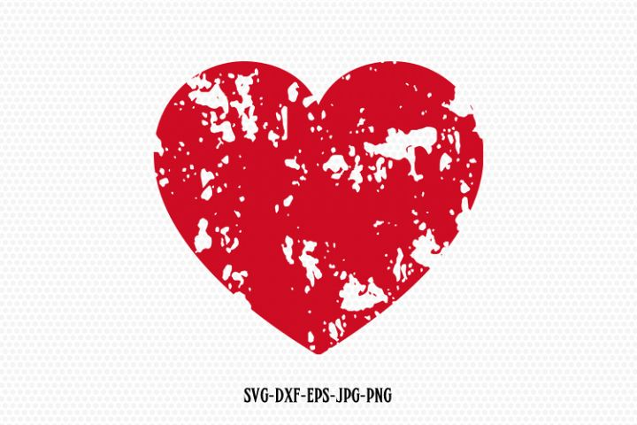 Distressed heart svg, Valentine SVG, Valentines Day SVG