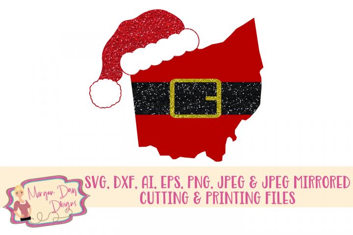 Ohio Santa SVG, DXF, AI, EPS, PNG, JPEG