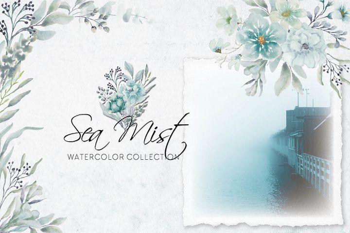 Sea mist watercolor collection