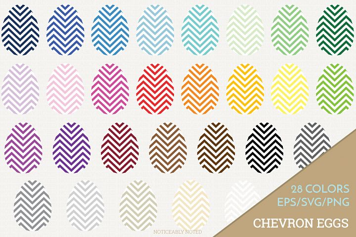 Chevron Easter Egg Vector / Clip Art