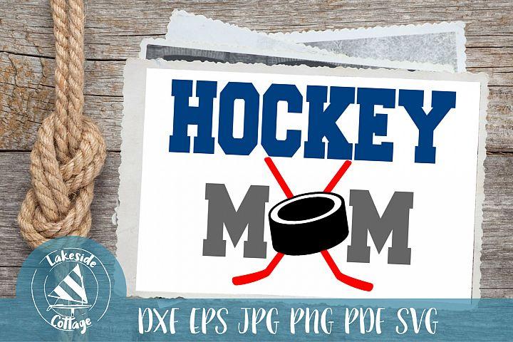 Hockey Mom Life - love ice hockey svg dxf png jpg pdf