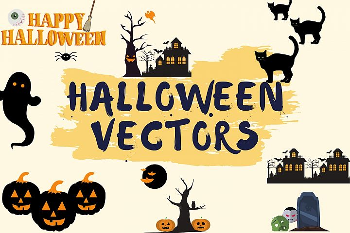 Halloween SVG- Pumpkin, Houses, Witch, Trees, Spider, Ghost
