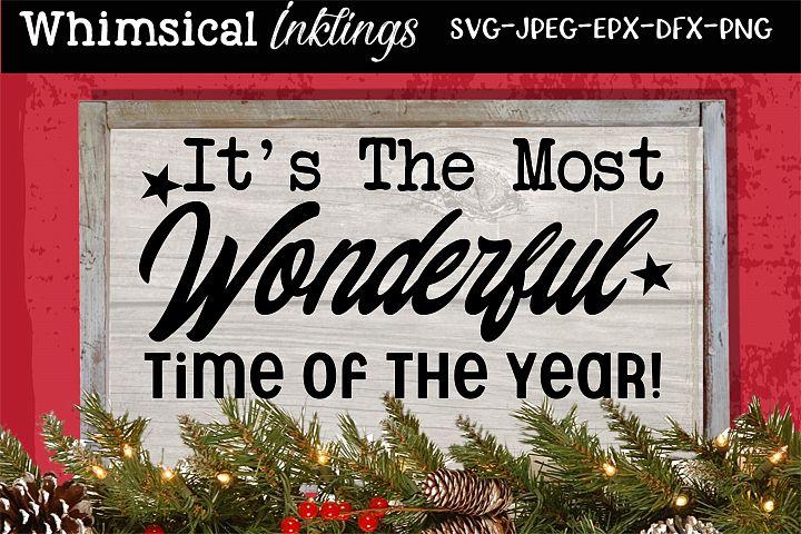 Most Wonderful Time-Christmas SVG